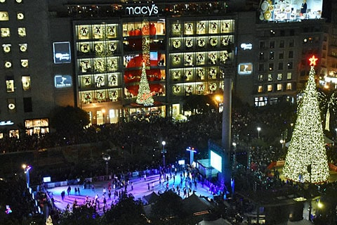 Macy's Tree Lighting Union Square
